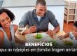 Benefícios que as refeições em família trazem ao lar
